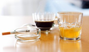 Коньяк, кофе и сигарета